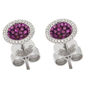 Caress 18K WG Diamonds & Rubies