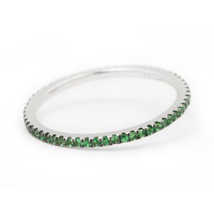 Caresse Tsavorite Ring 18K WG
