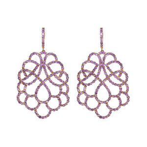 Renaissance Amethyst 18K Rose Gold Earrings