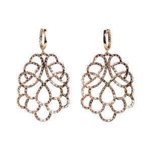 Renaissance Amethyst 18K Rose Gold Earrings Reverse