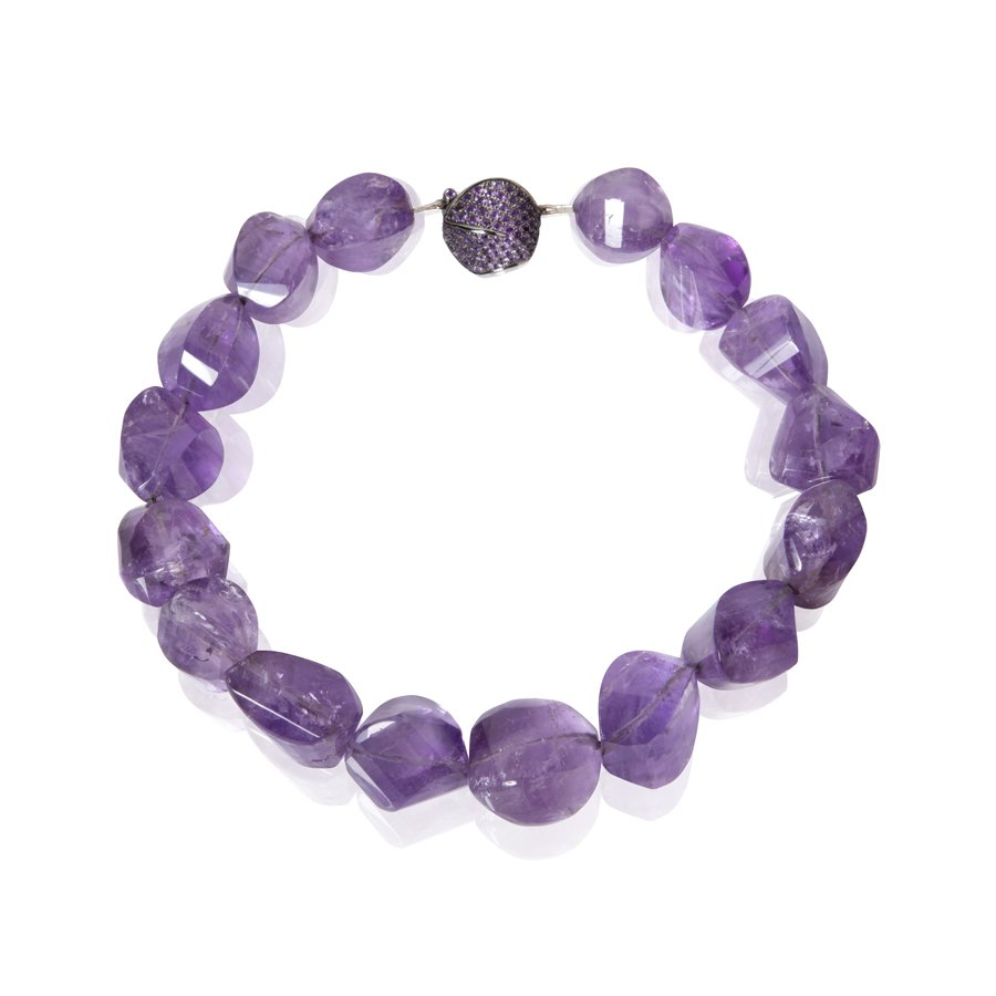 Amethyst Black Gold Necklace