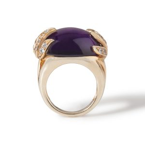 Aqua Collection Amethyst and White Sapphire Ring