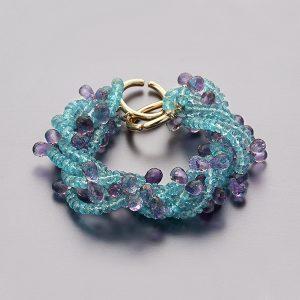 Apatite & Amethyst Bracelet