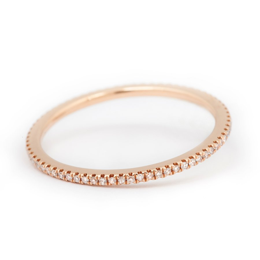 Caress Rose Gold Ring with Diamonds