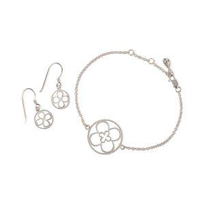 Faith Silver Bracelet and Earrings