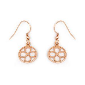 Faith rose gold vermeil earrings back