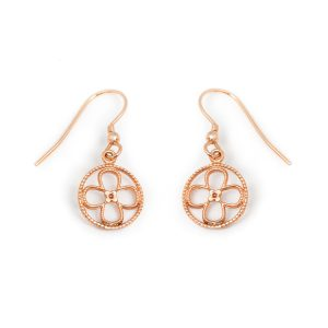 Faith rose gold vermeil earrings