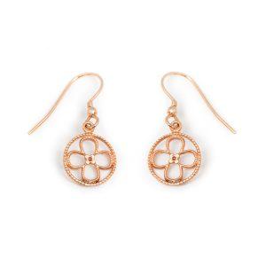 Faith rose gold vermeil earrings