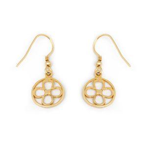 Faith Yellow Gold Vermeil Earrings Back