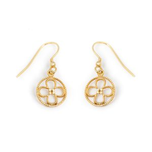 Faith Yellow Gold Vermeil Earrings