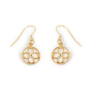 Faith Yellow Gold Vermeil Earrings