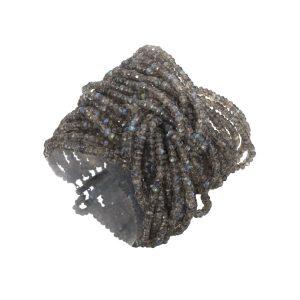 Labradorite & Black Gold Bracelet