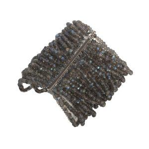 Labradorite & Black Gold Bracelet Reverse