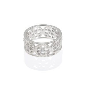 Faith Ring Rhodium Plated with CZ