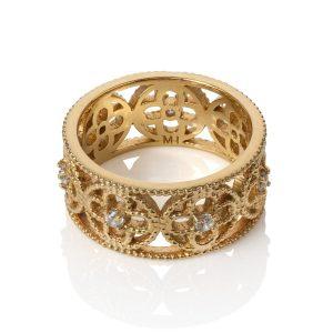 Faith Ring Yellow Gold Vermeil CZ
