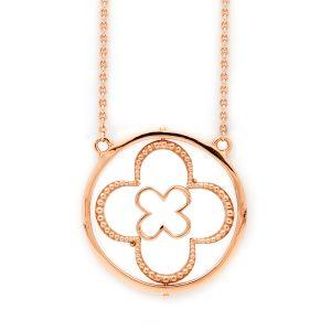 Faith Rose Gold Vermeil Necklace Front