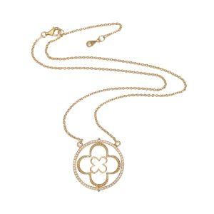 Faith Yellow Gold Vermeil Pendant with CZ