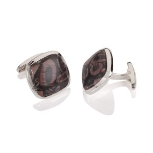 Mottled Agate Square Cufflinks