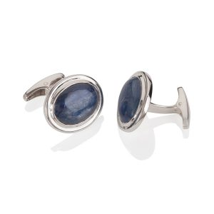 Sterling Silver Kayanite Cufflinks