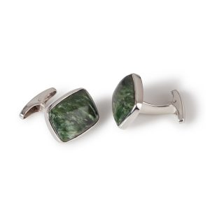 Sterling Silver Serephinite Cufflinks