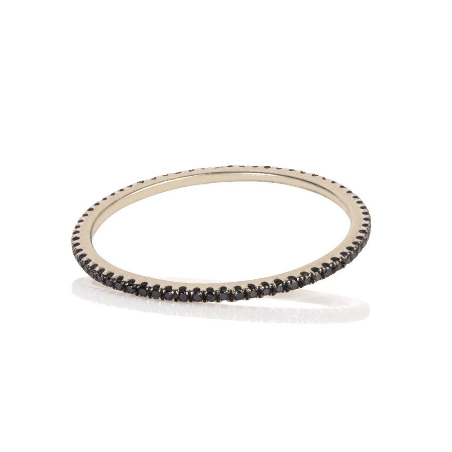 Caress Black Gold & Black Diamond Ring