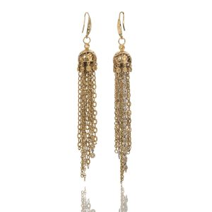 Jellyfish 18K Yellow/White Gold with Yellow Sapphire Earrings Back