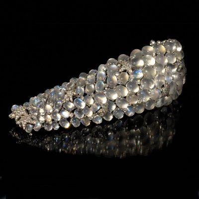 Bespoke jewellery moonstone bracelet