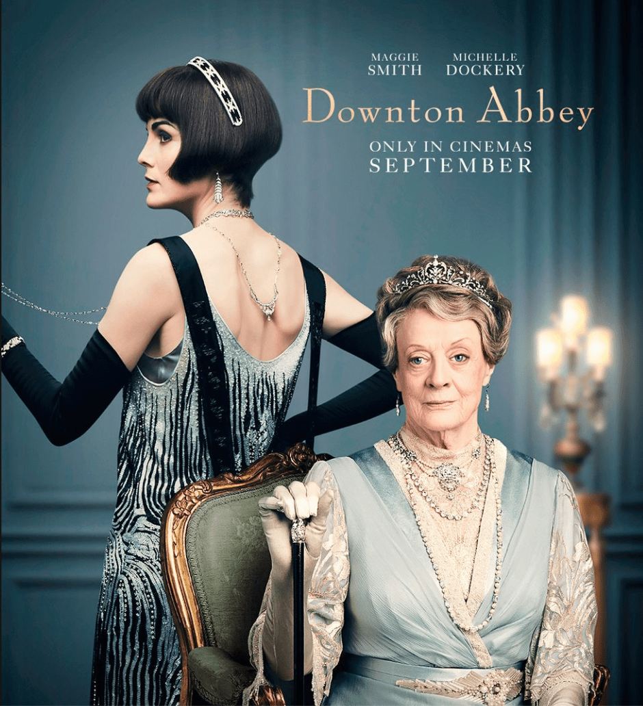 The Dowager Countess, played by Maggie Smith, wears a Victorian tiara.