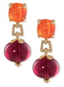 Garnet earrings