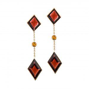 Gem Voyager - Garnet Earrings