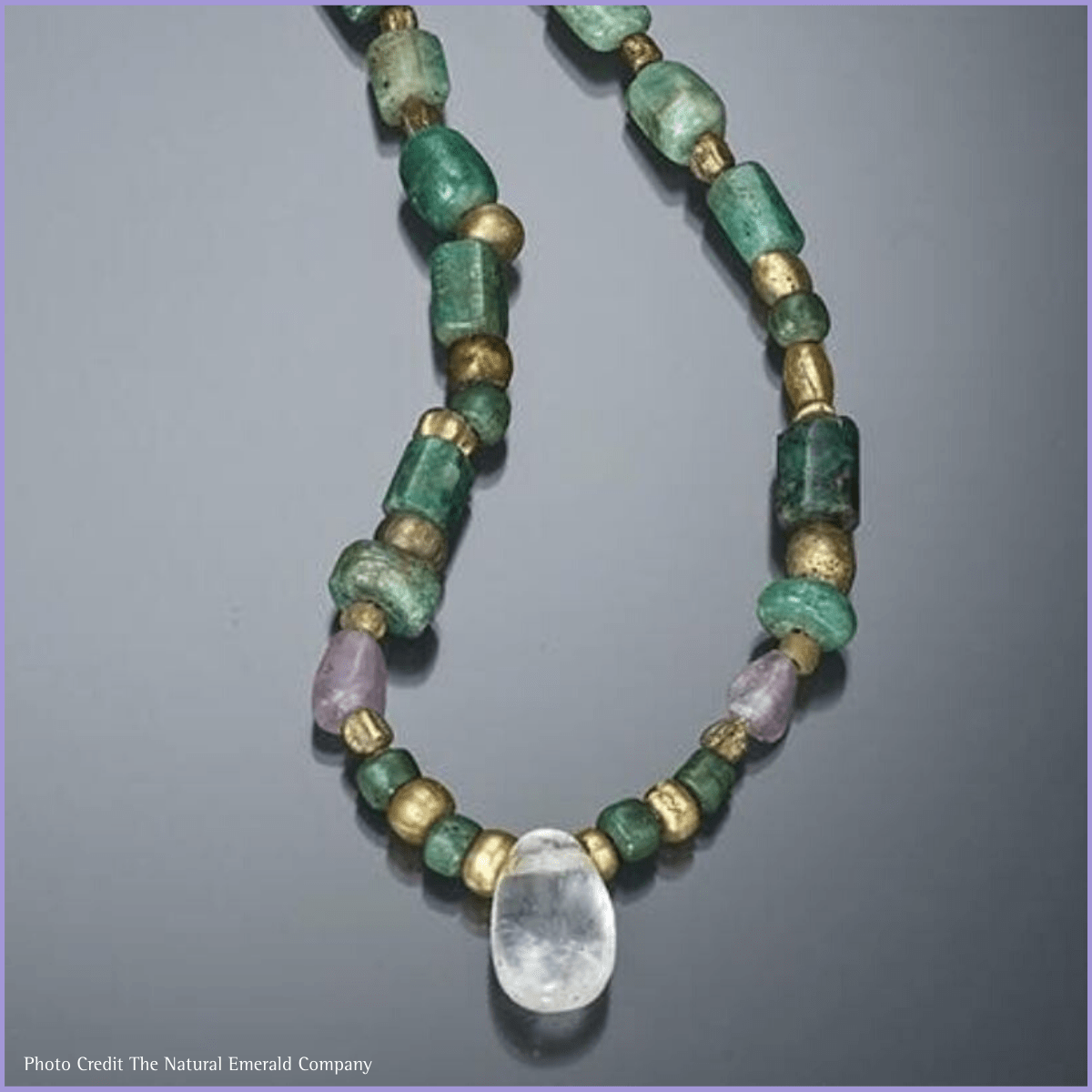 Ancient emerald jewellery