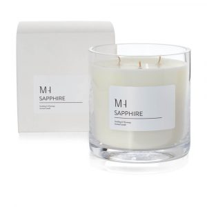 luxury sapphire candle